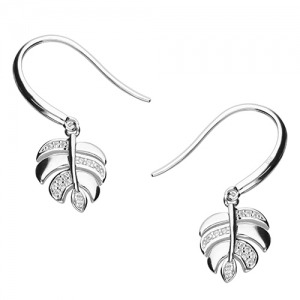 Silver Palm leaf earrings - Inscripture - Personalised Jewellery