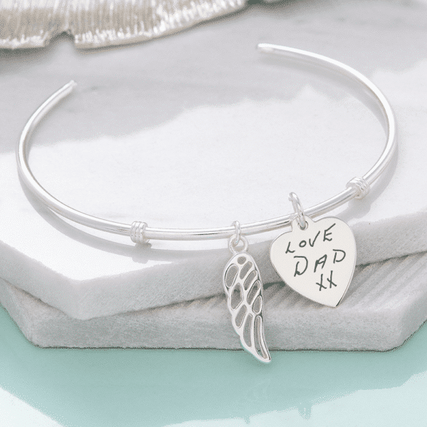Angel Wing Bangle - Inscripture