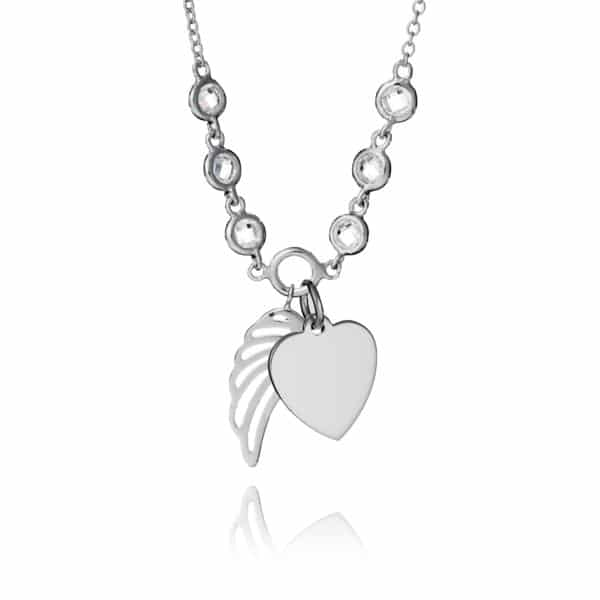 Inscripture - Sterling Silver Angel Wing Necklace