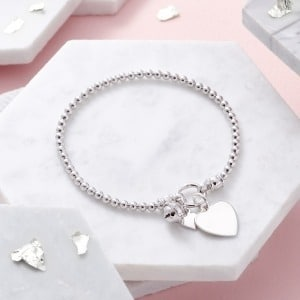 Sterling Silver Bell Bracelet - Inscripture - Personalised Jewellery