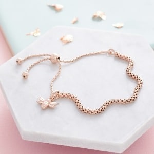 Dani Dyer Rose Gold Bee Bracelet - - Inscripture - Personalised Jewellery
