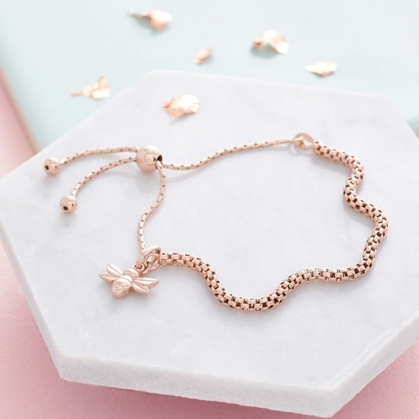 Dani Dyer Rose Gold Bee Bracelet
