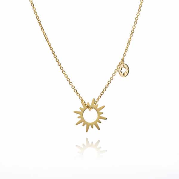 Inscripture - Gold Sun & Stars Necklace