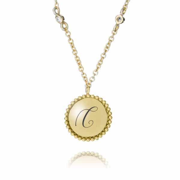 Inscripture - Personalised Gold Pendant Necklace
