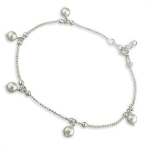 Pearl Anklet - - Inscripture - Personalised Jewellery