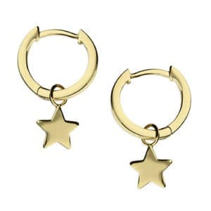 18ct Gold Star Earrings