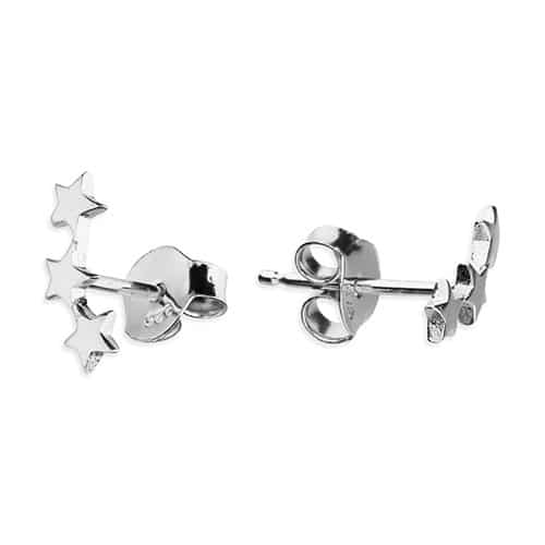 Inscripture - Silver Star Trio Earrings