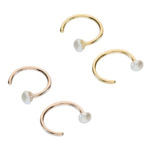 Pearl Hoop Earrings - - Inscripture - Personalised Jewellery
