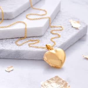 actual handwriting 18ct Gold Locket - Inscripture - Memorial Jewellery