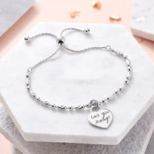 actual handwriting sterling silver personalised bracelet - Inscripture - Memorial Jewellery