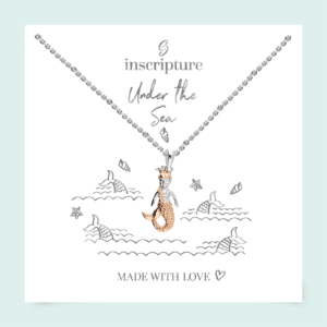 Rose Gold Mermaid Necklace - - Inscripture - Children's Jewellery