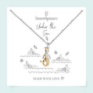 Gold Mermaid Necklace - - Inscripture - Children's Jewellery