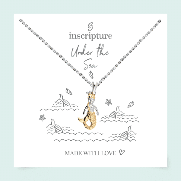 Inscripture - Gold Mermaid Necklace