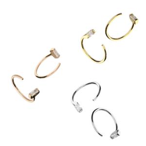 Crystal Pull through hoop - Inscripture - Personalised Jewellery