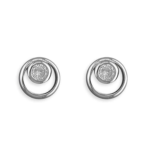 Inscripture - Diamante Circle Earrings