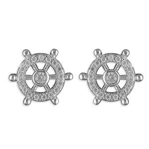 Sterling Silver Ships Wheel Earrings - Inscripture - Personalised Jewellery