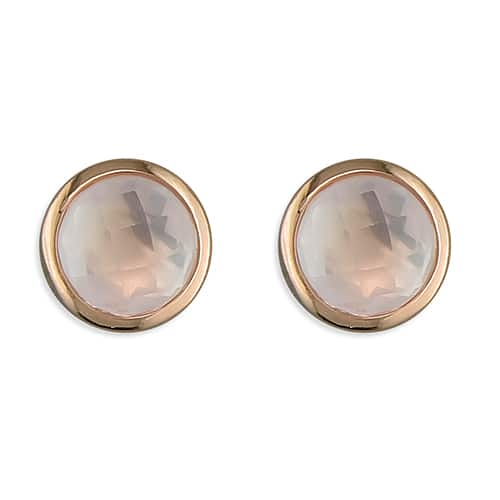 Inscripture - Rose Gold Quartz Earrings