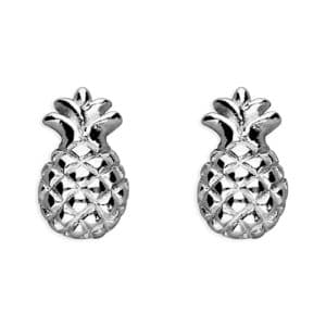 sterling silver pineapple stud earrings Inscripture - Personalised Jewellery