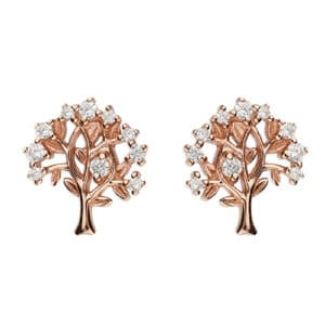 rose gold family tree earrings - Inscripture - Personalised Jewellery
