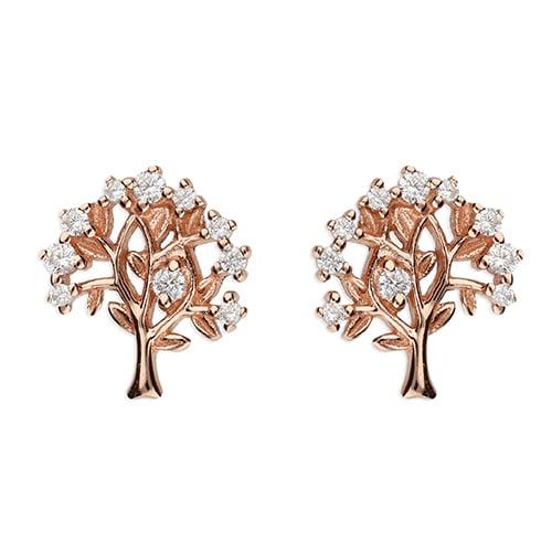 Inscripture - Rose Gold Family Tree Earrings