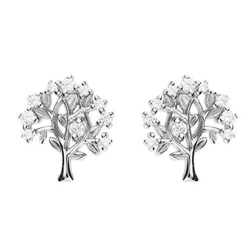 Inscripture - Silver Family Tree Earrings