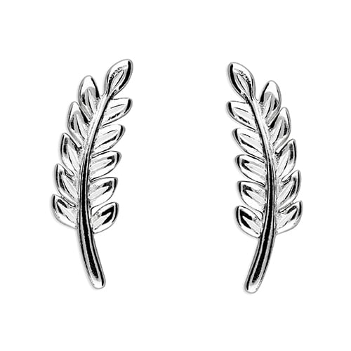 Inscripture - Leaf Stud Earrings