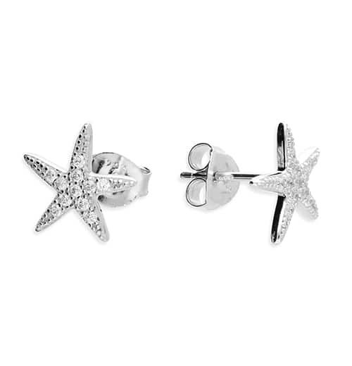 Inscripture - Diamante Starfish Earrings