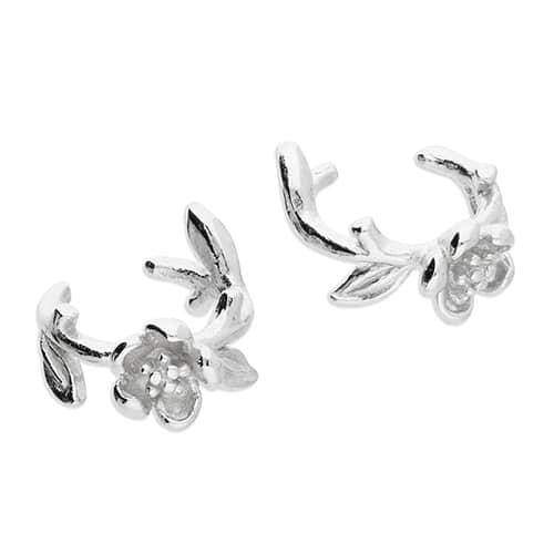 Inscripture - Silver Flower Cuffs