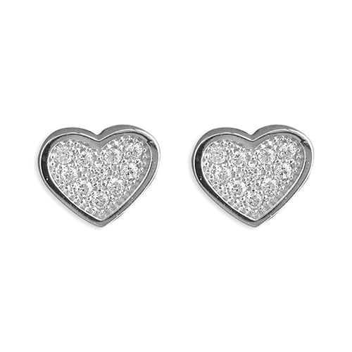 Inscripture - Diamante Heart Earrings