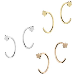 Star Pull Through Hoop Earrings - Inscripture - Earrings