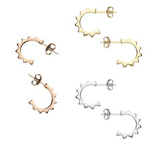 sun hoop stud earrings - Inscripture - Personalised Jewellery
