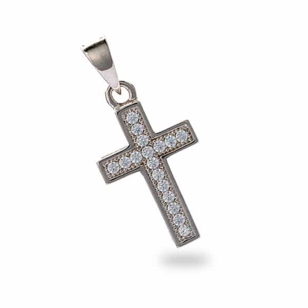 Inscripture - Diamonte Silver Cross