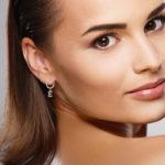 Earring E on female model