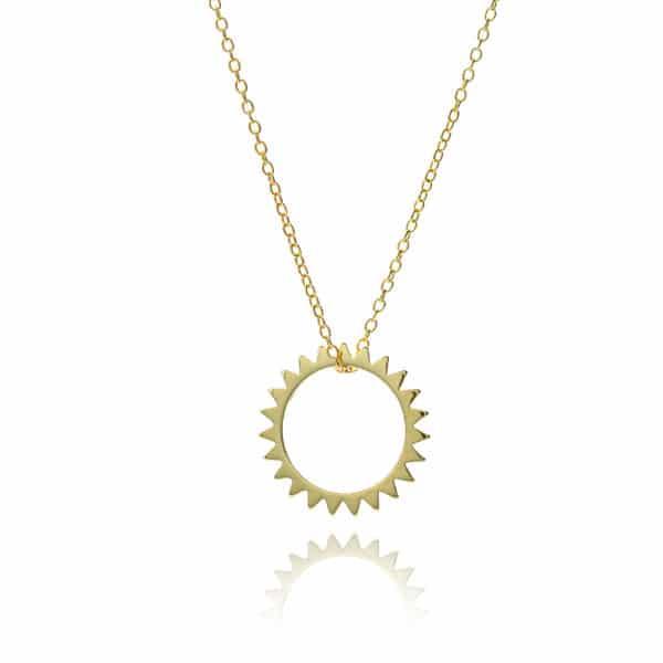 Inscripture - Golden Sun Necklace