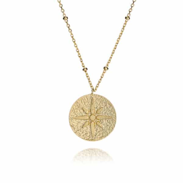 Inscripture - Gold Compass Necklace