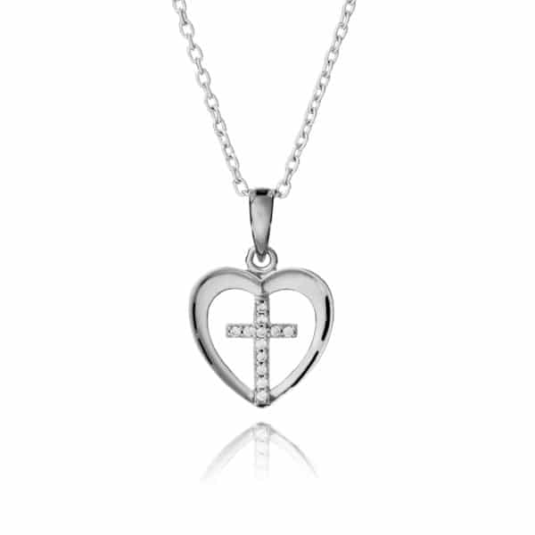 Inscripture - Heart & Cross Necklace