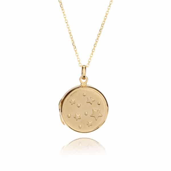 Gold Star Locket
