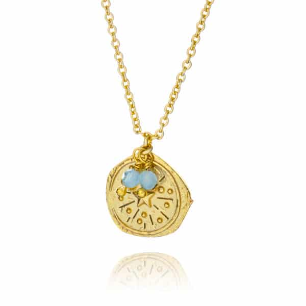 Inscripture - Gold Coin Necklace