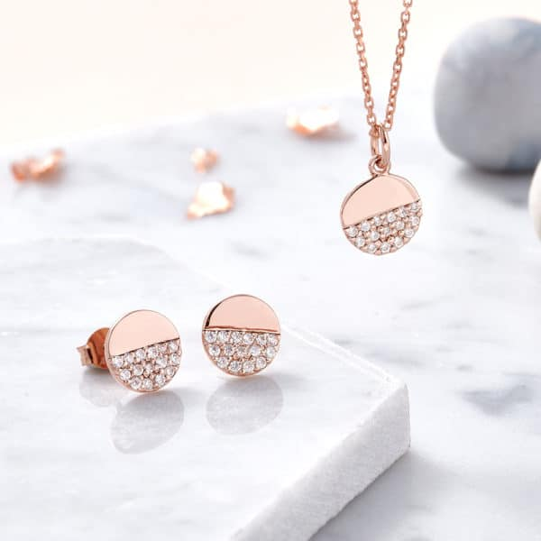 Inscripture - Rose Gold Dipped Earrings