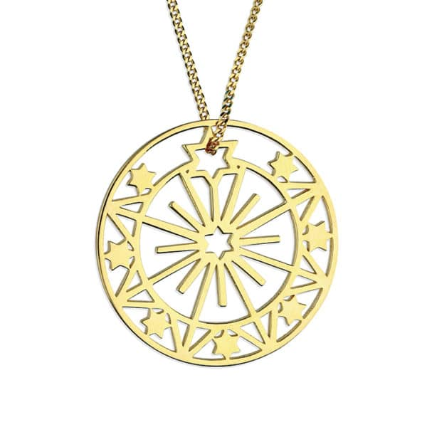 Inscripture - Gold Sun & Star Necklace