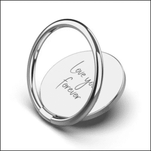 Silver Personalised Phone Ring - Inscripture - Mobile Accessories