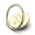 Inscripture - Gold Handwriting Phone Ring