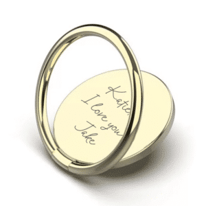 Handwriting Gold Phone Ring - Inscripture - Mobile Accessories