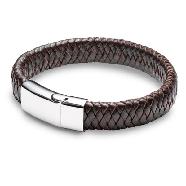Inscripture - Brown Leather Cuff Bracelet