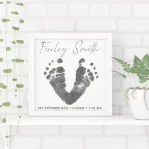 Personalised Footprint Frame - Inscripture - Personalised Gifts