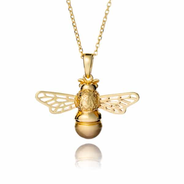 Inscripture - Gold Bee Necklace