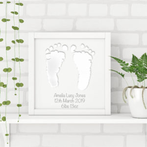 Foil Hand, Foot or Paw Print Frame