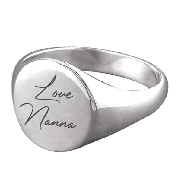 Handwriting Signet Ring