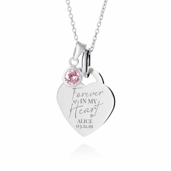 Forever in my heart personalised necklace - Inscripture - Personalised Jewellery