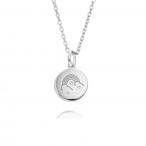 Rainbow Sterling Silver Necklace - Inscripture - Personalised Necklace